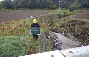 材木川改修工事施工前